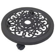 Cast iron Pot Stand on Wheels - D.30 cm